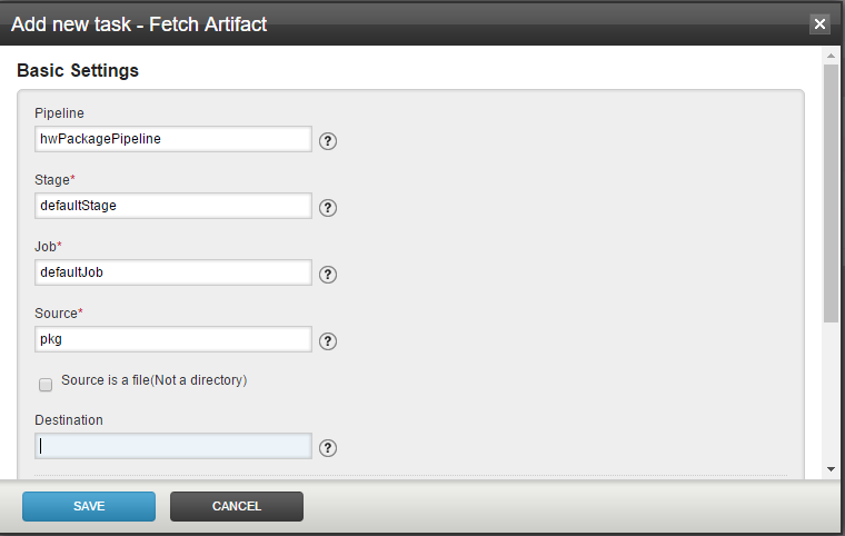 GoCD Fetch Artifacts