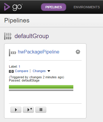 GoCD Pipeline Passed Build
