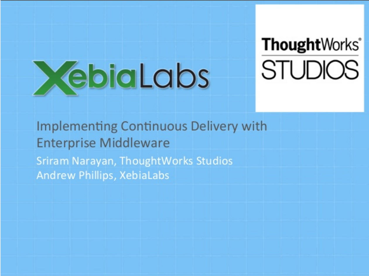 How to implement Continuous Delivery with enterprise java middleware?