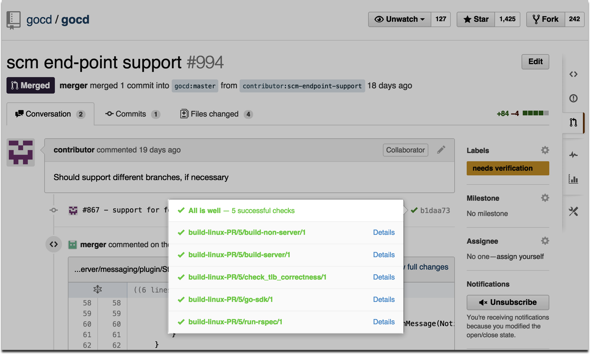 GitHub Pull Request with GitHub poller and notification plugins