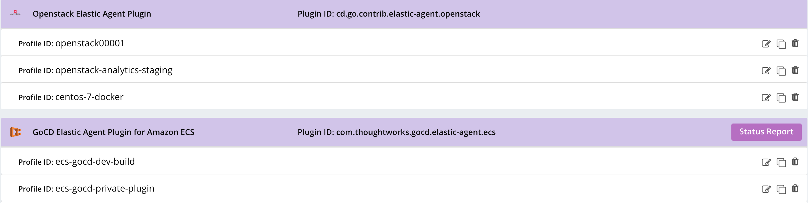 Group elastic profile by plugin id